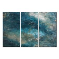 'Romantic Modern Expressionism 1.1' by Michele Morata 3 Piece Painting Print Plaque Set