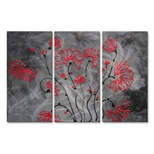 'Ruby Red' by Lisa Adame 3 Piece Graphic Art Plaque Set