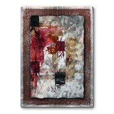 'Squares' by Pol Ledent Original Painting on Metal Plaque