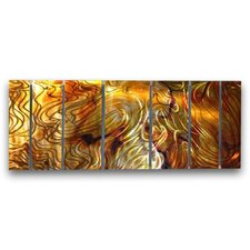 'Holographic' by Ash Carl 7 Piece Original Painting on Metal Plaque Set