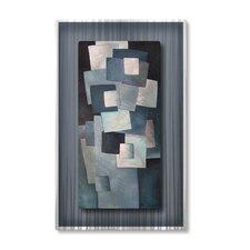 'Squares' by Lili Vanderlaan Original Painting on Metal Plaque