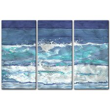 'Soothing Surf' by Keith Wilke 3 Piece Painting Print Plaque Set