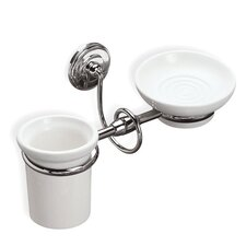 Idra Classic Wall Mounted Soap Dish and Toothbrush Holder