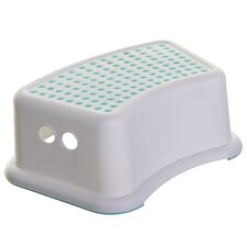 1-Step Plastic Dots Step Stool with 200 lb. Load Capacity