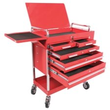 "Professional Duty 31.5"" Wide 5 Drawer Service Cart"