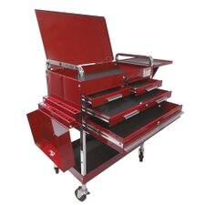 "Deluxe 35"" Wide 4 Drawer Service Cart"