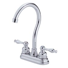 Sheridan Double Handle Deck Mount Bar Faucet