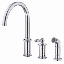 Prince Single Handle Deck Mount Kitchen Faucet with Spray