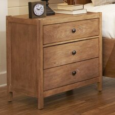Natural Elements 3 Drawer Nightstand