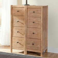 Natural Elements 4 Drawer Nightstand (Set of 2)