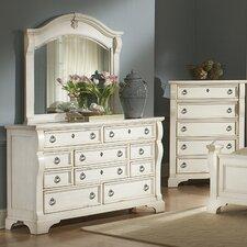 Heirloom 10 Drawer Dresser with Mirror