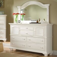 Cottage Traditions 6 Drawer Combo Dresser with Mirror