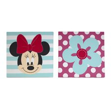 Minnie 2 Piece Canvas Art