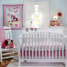 Minnie's Garden 3 Piece Crib Bedding Set
