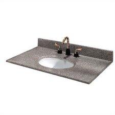 "Napoli 61"" Granite Double Bowl Vanity Top with Sink"