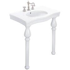 English Turn Console Bathroom Sink