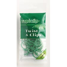 Rapiclip Twist and Clips (Set of 12)