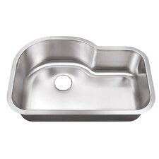 "12"" X 22"" Undermount Single Bowl Kitchen Sink"