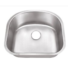 "11"" x 23"" Undermount Single Bowl Kitchen Sink"