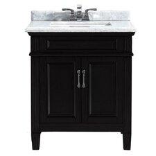 """Blaine 30"""" Single Bathroom Marble Vanity"""