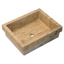 Reveal Rim Rectangular Stone Vessel Bathroom Sink