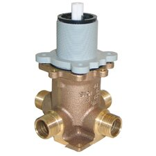 Rough Valves Tub and Shower Ceramic Disc Pressure Balance Valve without Integral Stops