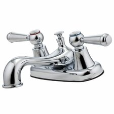 Pfirst Series Double Handle Centerset Standard Bathroom Faucet
