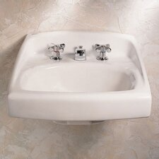 Lucerne Wall Hung Bathroom Sink Throu Bolt Support on Backsplash for Wall Anchors