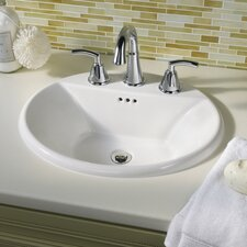 Tropic Oval Self Rimming Bathroom Sink