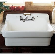 "Country 26.5"" x 17.5"" Kitchen Sink with Faucet"