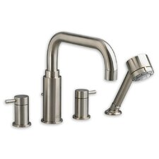 Serin Double Handle Deck Mount Roman Tub Faucet with Handshower