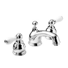Hampton Widespread Bathroom Faucet with Double Lever Porcelain Handles