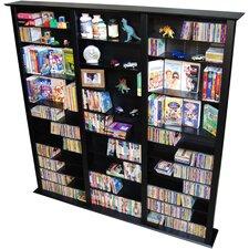 VHZ Entertainment Large Triple Multimedia Storage Rack