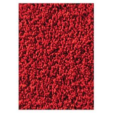 Soft Solids KIDply Red Velvet Area Rug