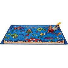 Literacy Alphabet Aquarium Kids Rug