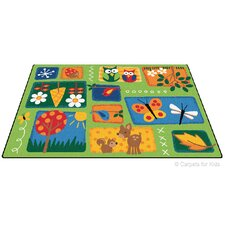 Printed Nature's Toddler Area Rug