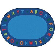 Circletime Bule Alphabet Primary Area Rug