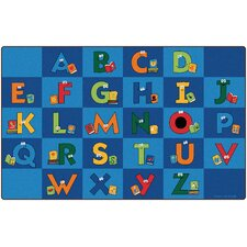 Reading Letters Library Kids Rug