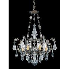 Renaissance Rock 6 Light Crystal Chandelier