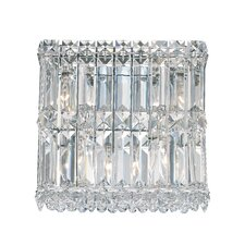 Quantum Four Light Wall Sconce in Polished Silver