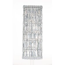 Quantum Ten Light Wall Sconce in Polished Silver