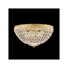 Petit Crystal Flush Mount in Heirloom Bronze with Swarovski Crystals