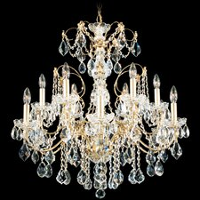 Century 12 Light Chandelier with Handcut Crystal