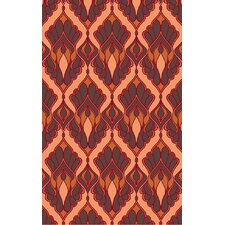 Voyages Cherry Ikat Area Rug