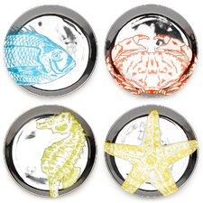 Aquatica 4 Piece Coaster Set