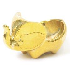 Brass Elephant Ring Holder (Set of 2)