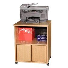 Modular Real Oak Wood Veneer Furniture Printer Stand
