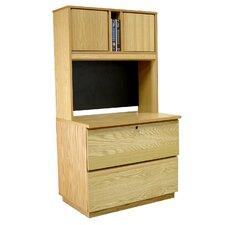 Modular Real Oak Wood Veneer 2-Drawer  File Cabinet