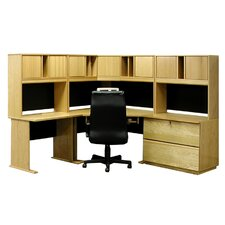 Office Modulars Executive Desk with Lateral File