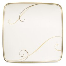 "Golden Wave 7.5"" Small Square Accent Plate (Set of 4)"